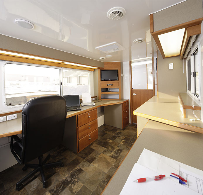 B L Enterprises MOT Series - Mobile office trailer with bathroom